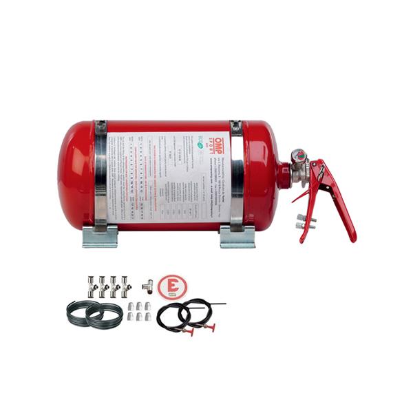 Kit extincteur mécanique automatique OMP ECOLIFE RED 4.25L acier