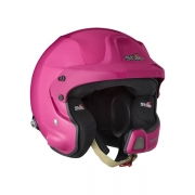 Casque jet STILO WRC DES Rally Composite coloris rose